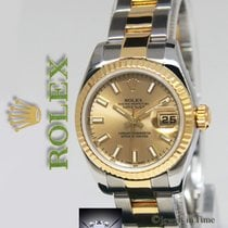 Rolex Datejust 18k YellowGold/Steel Champagne Index Dial...