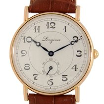 Longines Heritage 18k Rose Gold White Automatic L4.767.8.73.2