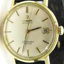 Omega solid gold Seamaster DeVille automatic date 562 14k