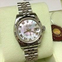 Rolex Datejust Pink MOP ROMAN Dial White Gold Bezel 26mm [NEW]