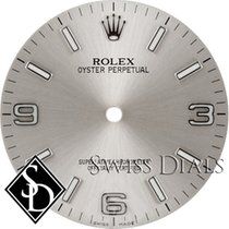 Rolex Oyster Perpetual Silver Luminous Index Hour Markers and...