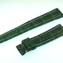 Breitling Band 18mm Croco Green Verde Strap B18-27