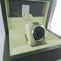 Rolex Milgauss 116400GVZ Blue Dial Green Crystal