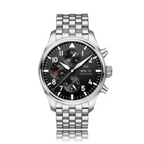 IWC Schaffhausen Pilot Automatic Stainless Steel Black Dial...