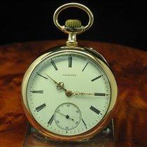 Longines 14kt 585 Gold Open Face Taschenuhr / 104,0 Gramm