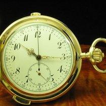 Heures Repetition Quarts 14kt Gold Savonette Taschenuhr...