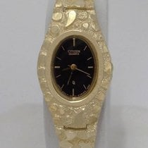 Citizen Ladies 10k Yellow Gold Nugget Style Citizen Dress...