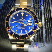 Rolex Submariner Date 18k Yellow Gold/Steel Blue Dial/Bezel...