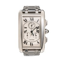 Cartier Tank Americaine Chrono White Gold