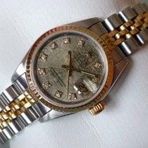 Rolex Datejust Lady - St/G - 69173 - Diamant-ZB - Papiere - 1987