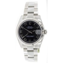 Rolex Datejust 178274 Midsize New Heavy Oyster Band with Black...