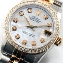 Rolex Steel & Gold 31mm Datejust MOP Diamond Dial &...