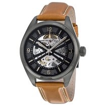 Hamilton Khaki Field Skeleton Dial Brown