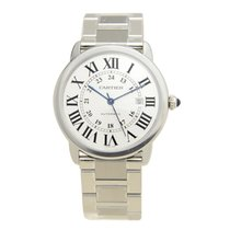 Cartier Ronde Solo De Cartier Stainless Steel Silvery White...