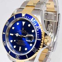 Rolex Submariner Date 18k Yellow Gold / Steel Mens Dive Watch...