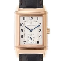 Jaeger-LeCoultre Reverso 18k Rose Gold Silvery White Automatic...