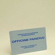 Panerai Warranty Card