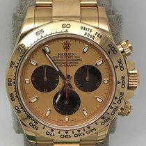 Rolex 116508 18k YG Daytona with Black Paul Newman dial