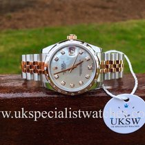 Rolex Datejust Rose & Steel MOP Diamond Dial -178341- UNUSED