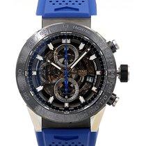 TAG Heuer Carrera 45 Chronograph Blue Strap Calibre Heuer 01