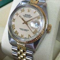 Rolex Oyster Datejust Jubilee Gold Steel Beige Roman Dial 36 mm