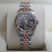 Rolex Lady-Datejust26 SS/18K Everest Gold/Chocolate Roman Dial