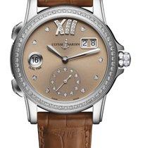 Ulysse Nardin CLASSIC DUAL TIME LADY Steel Bezel Diamonds Dial...