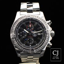 Breitling Super Avenger Stainless Steel Chrono Black Dial 48.5mm