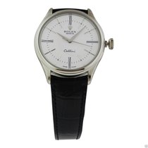 Rolex Cellini Time 50509 18k White Gold White Lacquer Dial