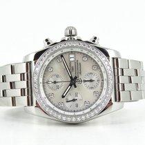 Breitling Chronomat 38 diamond bezel MOP diamond dial (incl...