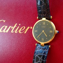 Cartier Gelb Gold 18K 750 Elegante Luxus Unisex Armbanduhr 30mm
