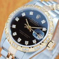 롤렉스 (Rolex) Rolex 18K Gold & S/S Diamonds No Hole Women&#3...