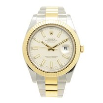 롤렉스 (Rolex) Datejust II Gold And Steel White Automatic...