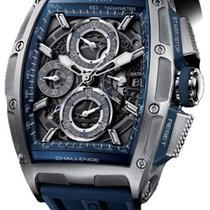 Cvstos Chrono II Challenge Men's Watch, Blue Steel, Black...