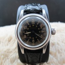 Rolex 3136 OYSTER Military with Glossy Black Gilt Dial
