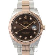 ロレックス (Rolex) Datejust 41 Chocolate/Rose gold G 41mm - 126331