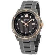Bulova Diamond Grey Dial Stainless Steel Men's Watch 98d128