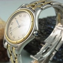 Cartier Cougar Panthere Stahl / 750 - 18k Gold Grosses Modell...