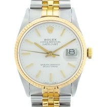 Rolex Datejust Men's 36mm White Dial Gold And Stainless...