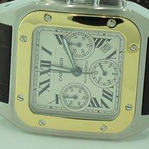 Cartier Santos 100 XL Chronograph 18K Gold Automatic