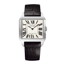 Cartier Santos Dumont w2007051 18kt White Gold Manual Wind NEW