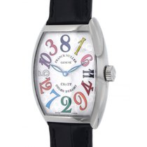 Franck Muller Crazy Hours Color Dream 7851 Steel, Leather