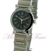Movado Vizio Ladies, Black Dial - Stainless Steel on Bracelet