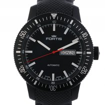 Fortis B-42 Monolith Day Date Stahl PVD Black Automatik 42mm