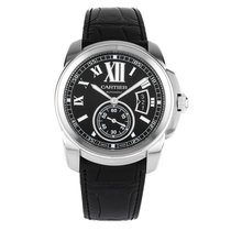 Cartier Calibre de Cartier 42mm Stainless Steel Watch Leather...