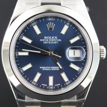Rolex Date Just II Steel Blue Index Dial, Full Set 116300
