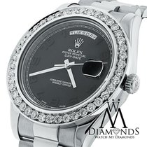 Rolex Day-date Ii Presidential White Gold - Diamond Bezel -...