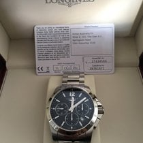 Longines Conquest Chronograph Black Dial Stainless Steel...