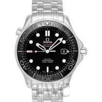 Omega Seamaster Diver 300m Co-Axial 41mm Black Steel -...