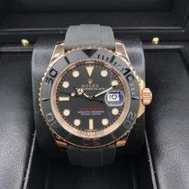 勞力士 (Rolex) Yacht Master Rose Gold 40mm Rubber Strap 116655